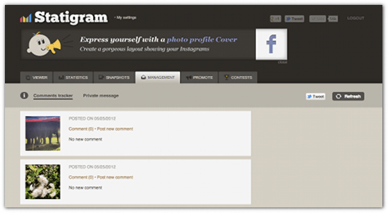 Manage Instagram Comments With Statigram