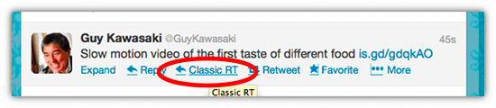ReTweet The Old Fashioned Way With Classic ReTweet - Cool Tool