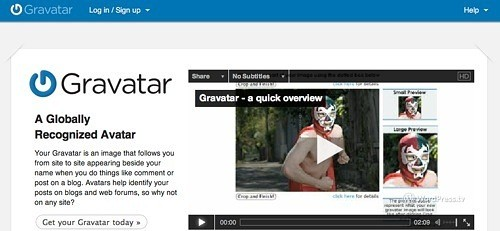 Getting a profile pic for WordPress – Gravatar