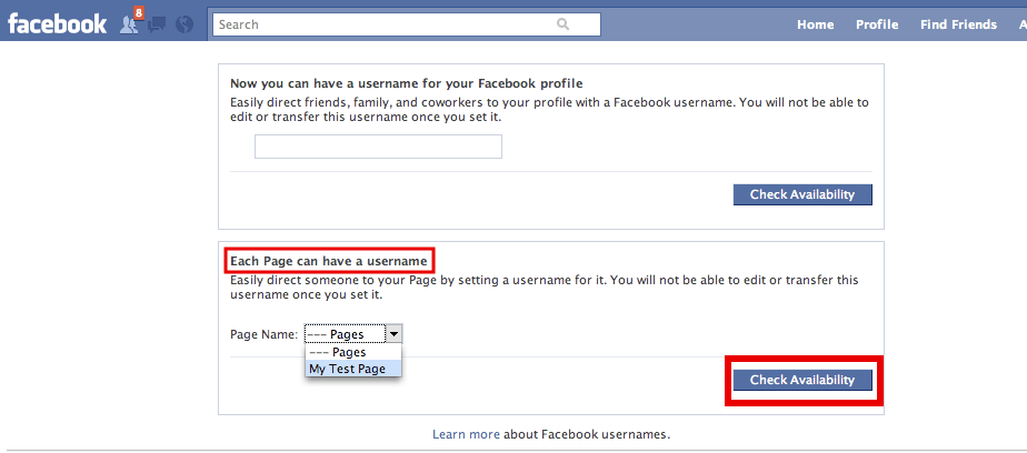 How To Set A Username / url For Your Facebook Page