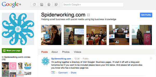 The Google+ Irish Business Page Directory