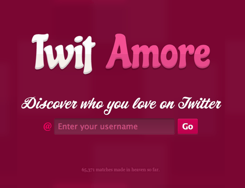 Who Do You Love On Twitter? Twit Amore Knows