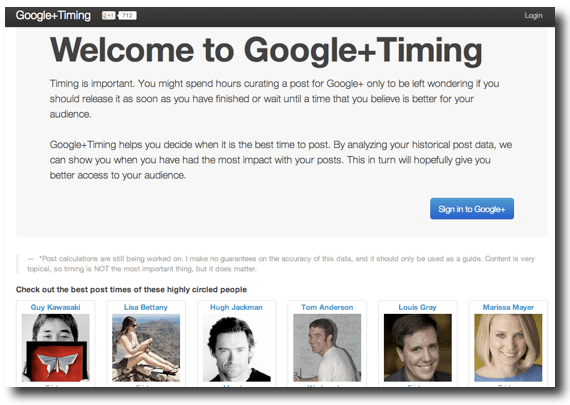 Discover The Best Time To Post To Google+ With 'Google+Timing'