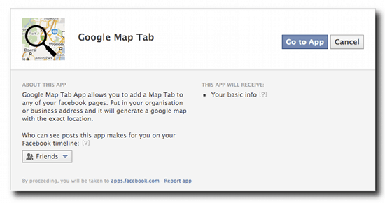 Add Google Maps To Your Facebook Page With 'Google Map Tab'