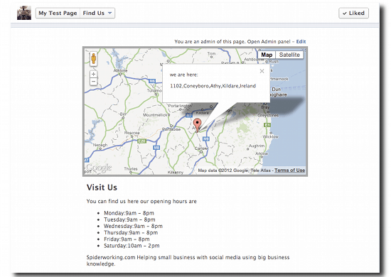 Add Google Maps To Your Facebook Page With Google Map Tab - Add location on map