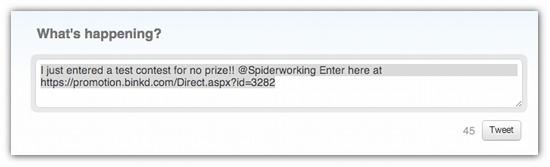 Tweet Twitter contest