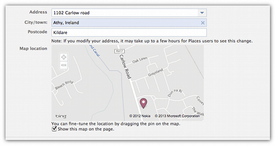 How To Add Maps To Your Facebook Page A Trick And Some Alternatives - Add location on map
