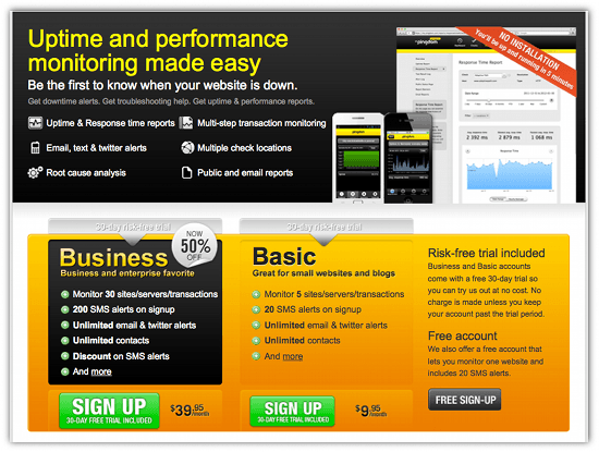 Is Your Website Down? Get Alerted With Pingdon - Cool Tool