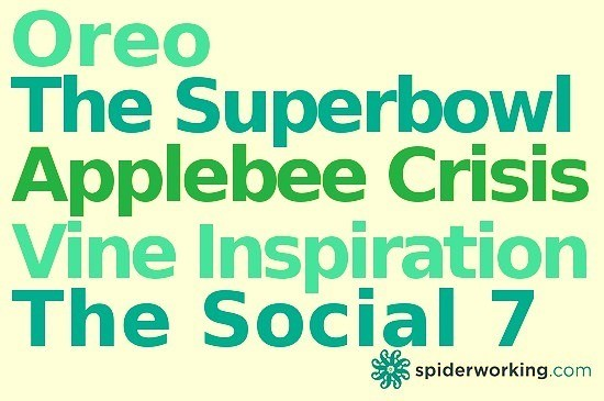Oreo, The Superbowl, The Applebee Crisis and Vine Inspiration – The Social 7