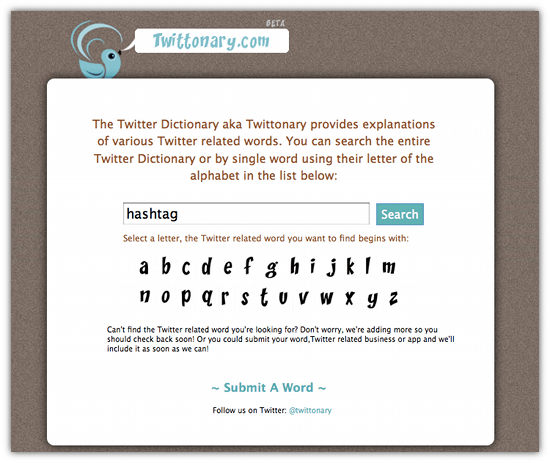 Twittonary Helps You Understand The Language Of Twitter - Cool Tool