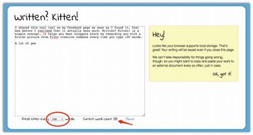 Beat Bloggers Block With Written? Kitten! - Cool Tool