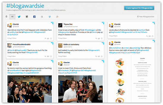 View The Whole #Tag Conversation Across Networks With Tagboard - Cool Tool