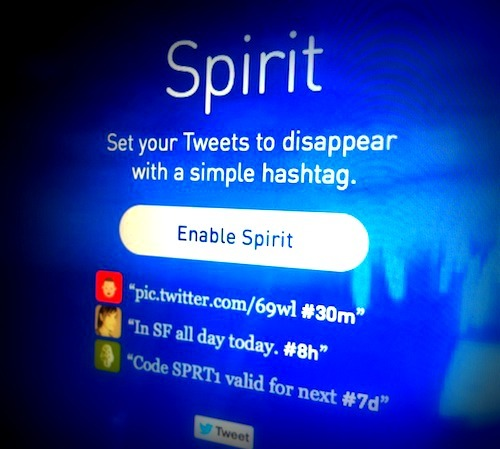 Schedule Your Tweets To Self Destruct With Spirit for Twitter - Cool Tool