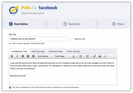 Missing Facebook Questions? Add Polls to Facebook with 'Poll' - Cool Tool