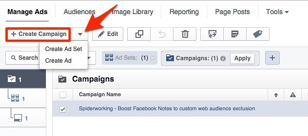 Create campaigns, ad sets and ads