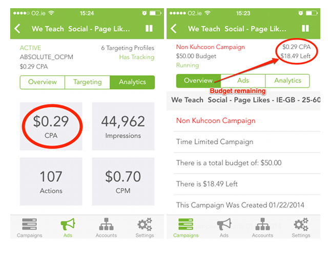 Manage your Facebook Ads On The Go with Kuhcoon Ads - Cool Tool
