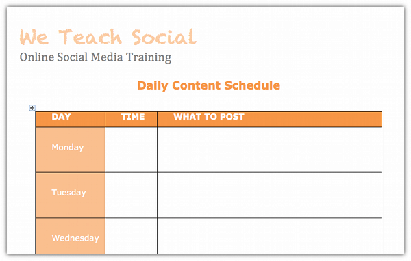 A Beginners Guide To Creating A Social Media Content Schedule + Free Template