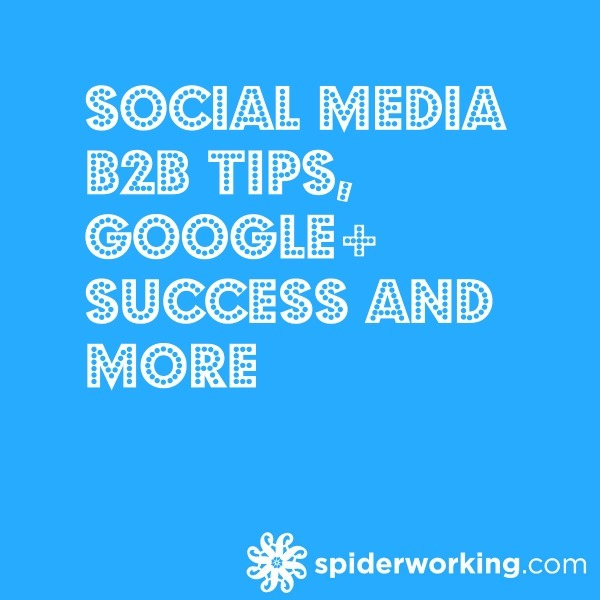 Social Media B2B Tips, Google+ Success and More – The Social 7