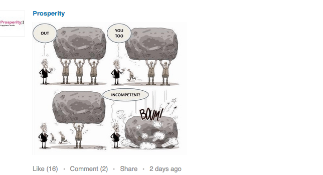 Humour can work on LinkedIn