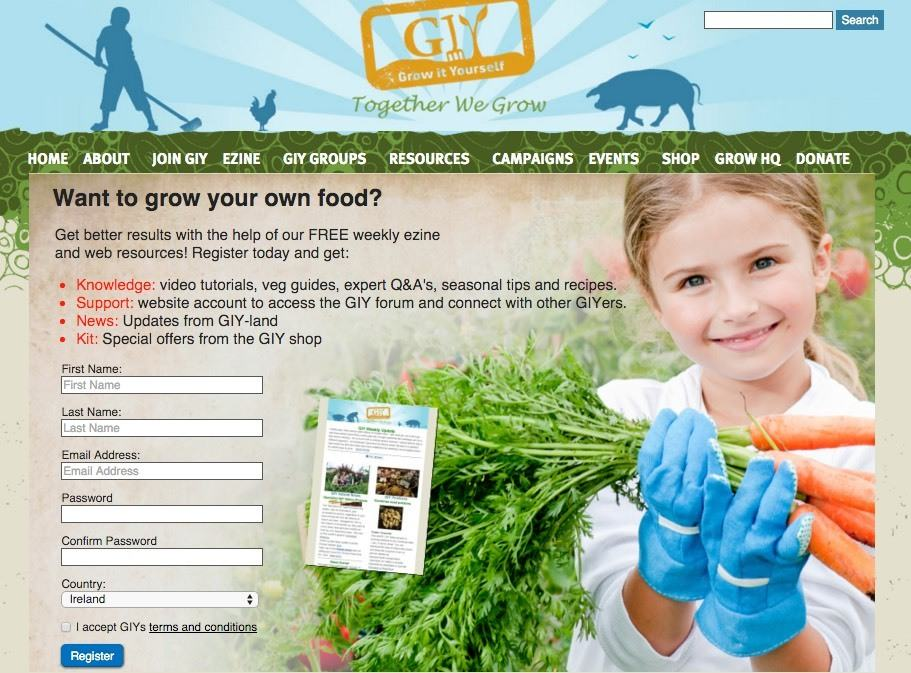 create an ezine sign up page