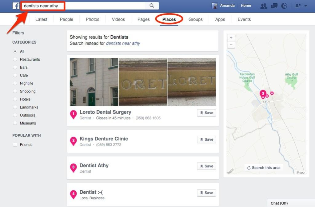 How To Add A Map To Your Facebook Business Page - Add location on map