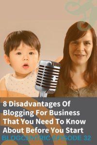 Disadvantages of blogging