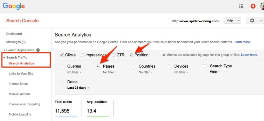 Use Google Search Console to find posts to update