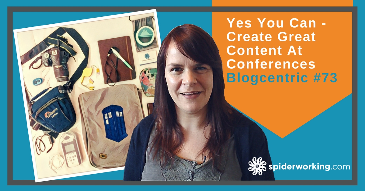 How to create content at conferences