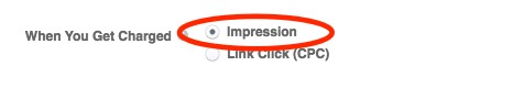 Select 'impressions' to get access to a lower daily budget