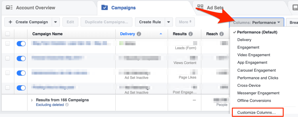 Choose 'Customise comments' to find your Canvas metrics
