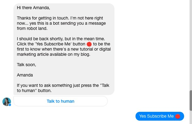 The Spiderworking chatbot welcome message