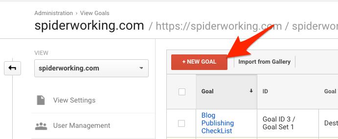 Click 'New Goal'