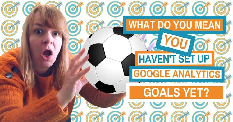Picture of Amanda with a football talking about goals