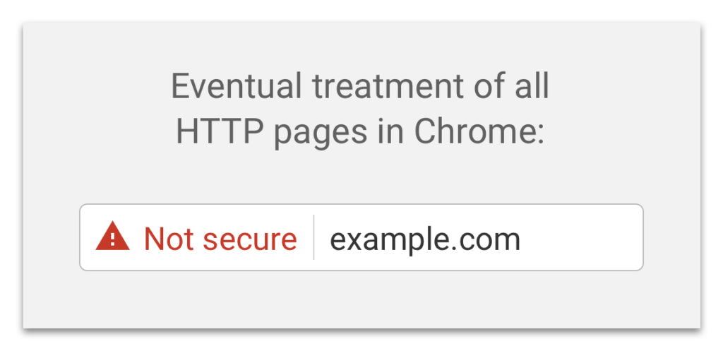 not secure chrome browser