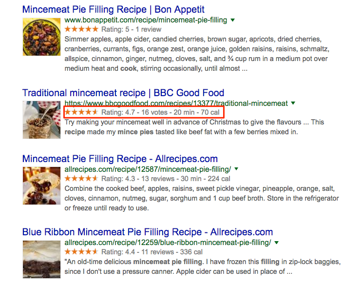Structured data in recipes. Great for food bloggers