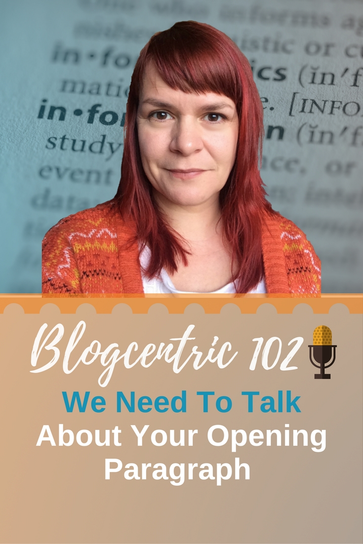 We Need To Talk About Your Blog Introduction - Examples & Inspiration