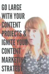 Chipping away slowly at your content marketing, consistent posting, a decent strategy will bring you new customers, nurture existing ones and get you referrals. But large-scale content can get you big results quickly.  #AmandasSocialTips #socialmedia #socialmediamarketing #marketing #strategy #socialmediastrategy  #contentmarketing #contentmarketingideas