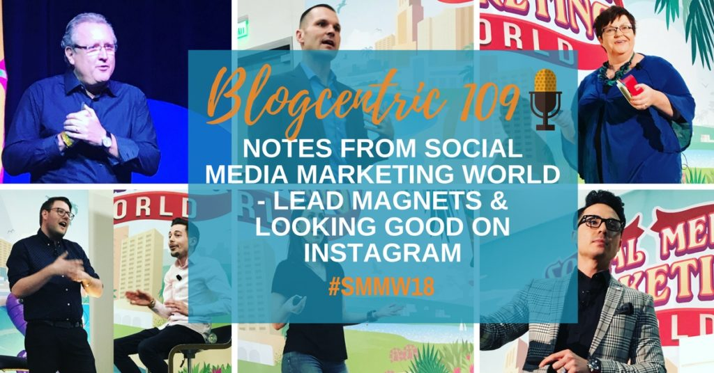 Notes from Social Media Marketing World - Lead Magnets & Looking Good On Instagram