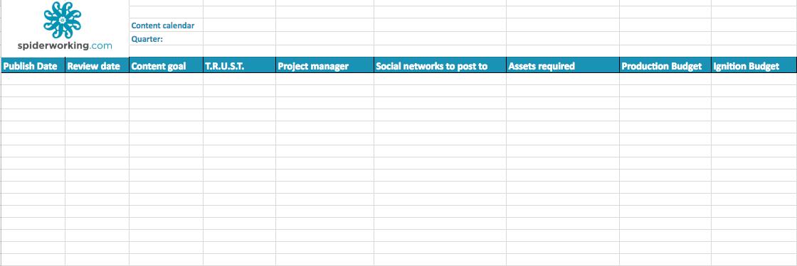Social Media Manager Tool Google Sheets Content Calendar Spiderworking Com Digital Marketing Strategy For Small Business