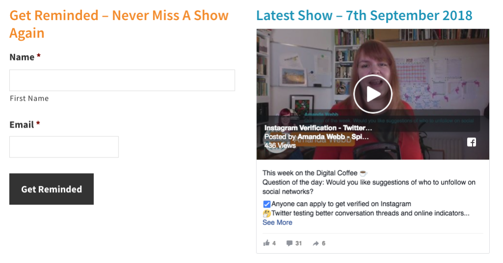 You can watch my show live on my website.