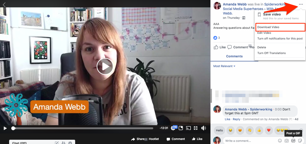download facebook video from group