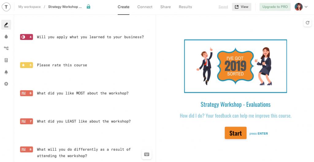 Typeform creates attractive, easy to complete surveys