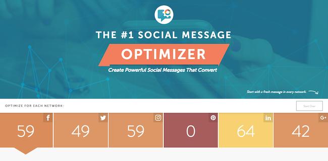 Social Message Optimizer grades your social updates